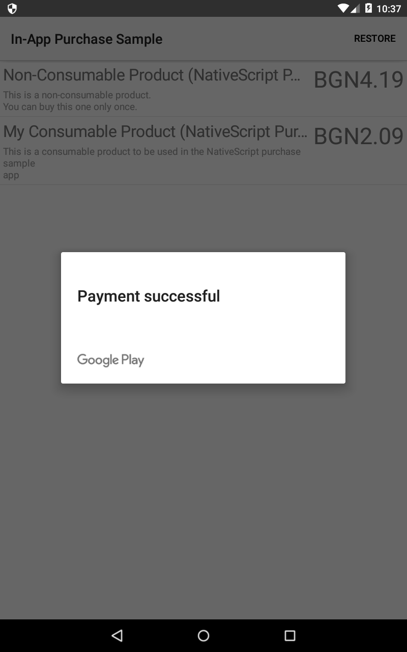 Implementing In-App purchases in your NativeScript application (Part