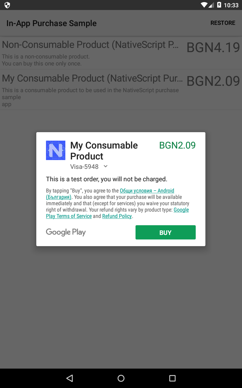 Implementing In-App purchases in your NativeScript